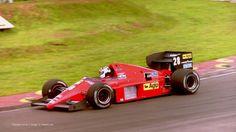 Stefan Johansson, Ferrari, Brands Hatch, 1986
