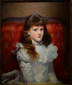 Miss Cara Burch by John Singer Sargent, 1888, oil on canvas - New Britain Museum of American Art - DSC09461.JPG