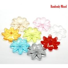Wholesale Mixed Flower Acrylic Spacer from China Supplier Acrylic Beads, China, Flowers, Ideas, Jewelry, Jewlery, Jewerly, Schmuck, Jewels