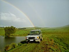Devlin Loader his and Land Rover Discovery Series II on his farm in the KZN midlands.