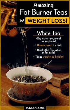 A hot cup of just a perfect to start your day, if you are worried about your weighty issues. In this article, you will find all the information on how tea can help you with your fat problems. Quick Weight Loss Tips, Weight Loss Help, Weight Loss Drinks, Weight Loss Smoothies, How To Lose Weight Fast, Loose Weight, Reduce Weight, Fat Burning Tea, Fat Burning Detox Drinks