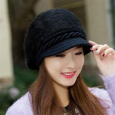 XUYIJUN Mink and Fox fur ball cap winter hat women hat girl knitted hats skullies beanies brand new thick female cap