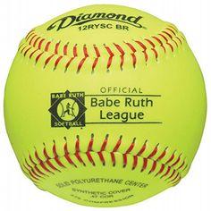 DIAMOND BABE RUTH SYNTHETIC FASHPITCH SOFTBALL 12 INCH sold in Dozen 12RYSCBR  http://homerun.co.business/product/diamond-babe-ruth-synthetic-fashpitch-softball-12-inch-sold-in-dozen-12ryscbr/