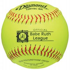 DIAMOND BABE RUTH SYNTHETIC FASHPITCH SOFTBALL 12 INCH sold in Dozen 12RYSCBR  http://homerun.co.business/product/diamond-babe-ruth-synthetic-fashpitch-softball-12-inch-sold-in-dozen-12ryscbr/