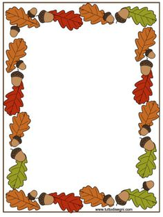 cornicetta-autunno-colorata Borders For Paper, Borders And Frames, Page Boarders, Boarder Designs, Fall Clip Art, Leaf Border, Frame Clipart, Autumn Activities, Writing Paper