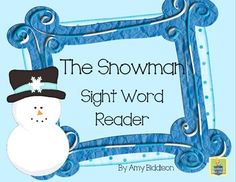 The Snowman Sight Word Reader *look, said* Kindergarten Writing, Teaching Writing, Kindergarten Classroom, Teaching The Alphabet, Teaching Language Arts, Help Teaching, Teaching Ideas, Teaching Resources, Sight Word Practice
