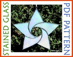 Easy Stained Glass Star Pattern 5 Point by SewardStreetStudios, $4.00
