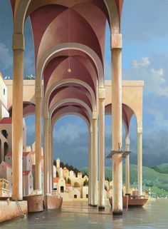 Michiel Schrijver, 1957 | Surreal architecture painter | Tutt'Art@