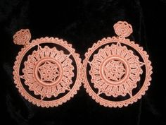 Pendientes flamenca de crochet Crochet earrings