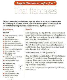 Thai fishcakes