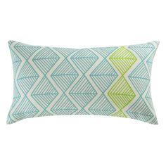 Cuscino da esterni blu/verde in tessuto 25 x 45 cm JACARA Maisons du Monde