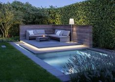 Garten Outside living space Ultimate Deck And Patio Retreat For Easy Living You can create a stress- Small Backyard Pools, Backyard Pool Designs, Small Pools, Swimming Pools Backyard, Swimming Pool Designs, Backyard Landscaping, Pool Garden, Pergola Patio, Backyard Patio