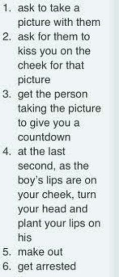 Hahaha when meeting One Direction... its funny cos if I ever do meet one of the boys i might actually do this.