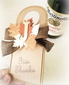 Thanksgiving Hostess Gift Tag made with Cricut Explore -- Freebies 2 Deals. #DesignSpaceStar Round 4