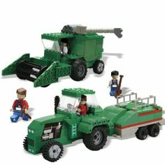Best-Lock 330pc Green Harvester and Tractor by Best Lock. $49.95. Contains 330 pieces which is enough to build everything shown in the image - at the same time. Helps to encourage creativity, sharing and imagination in young children whilst improving hand-eye co-ordination and general motor skills. Includes full-color, step-by-step, illustrated building instruction booklet. Comes complete with 4 scale play figures with moving arms, legs and head plus additional...