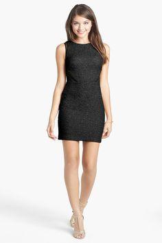 Hailey Logan Illusion Panel Textured Body-Con Dress (Juniors) by Hailey Logan on @nordstrom_rack