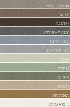 Calming color palette