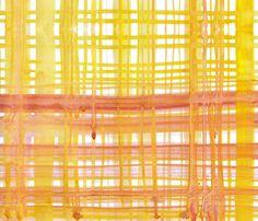 cestlaviv_madras yellow orange fabric by cest_la_viv on Spoonflower - custom fabric