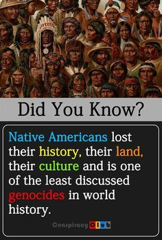 American Indians' history has been systemically whitewashed to benefit imperial European colonizers. Same as AFRICANS!!!