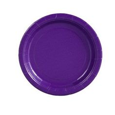 "Purple Paper Party Plates, 7"", 24-ct. Pack"