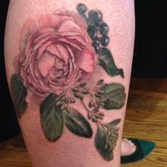 Pink Posy complete!               Thank you, Kelli - I'm so pleased that you let me do this for you.          #bfatprojectoffer #floraltattoo