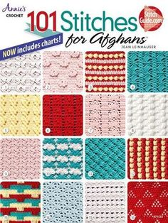 Afghans are fun to make, cozy to use and make wonderful gifts! This book is a reference tool you will use for years. You can crochet the 101 afghan stitch patterns in baby-, sport-, worsted or bulky-w Crochet Afghans, Annie's Crochet, Crochet Motifs, Crochet Books, Crochet Stitches Patterns, Tunisian Crochet, Crochet Gifts, Crochet Designs, Stitch Patterns