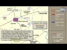 CIVIL WAR, AMERICAN, SECOND BATTLE OF BULL RUN, ANIMATION ON A MAP