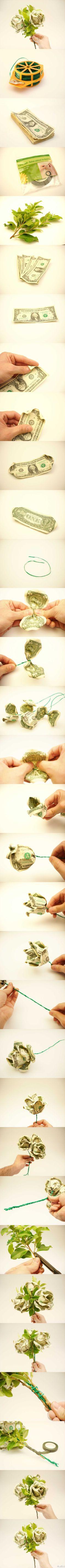 Dollar Bill Flower Bouquet by LoMac