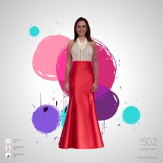 Traje de moda hecho por Luigina usando ropa de Nordstrom, Davids Bridal, Quiz Clothing. Estilo hecho en Trendage