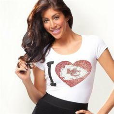 Kansas City Chiefs Ladies Touchback T-Shirt - White
