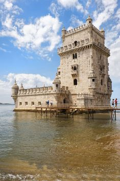 Torre de Belem (Belem Tower or Tower of St Vincent) Belem district, Lisbon, Portugal ~ UNESCO World Heritage Site. Photo: Gabrielle Therin-Weise