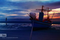 bluehours by joecas  blue boat sea sundown water joecas