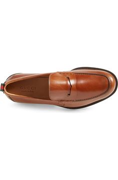 Gucci 'Tobias' Penny Loafer (Men)   Nordstrom Penny Loafers, Loafers Men, Men's Shoes, Dress Shoes, Tobias, Grosgrain, Casual Shoes, Oxford Shoes, Gucci