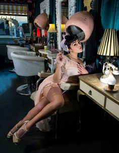 It's a total dream to take a pretty boyfriend to the salon for a pin-up girl styling.