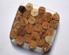 Recycled Cork Wine Coaster by Zipper8Design on Etsy