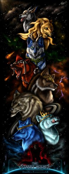 The Starry Wolves - Scroll by ZilvenArt on DeviantArt