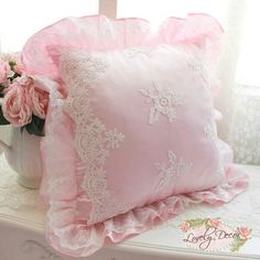 Cheap lace lamp, Buy Quality lace wedding dresses vintage directly from China lace nursing Suppliers: Hot luxury romantic embroidery lace cushion wedding decoration square throw pillow waist ruffle cushions bedroom textile sale Pink Throws, Pink Throw Pillows, Accent Pillows, Lace Pillows, Decor Pillows, Egyptian Cotton Duvet Cover, Lace Lamp, Shabby Chic Pillows, Pink Home Decor