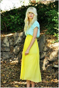 sweet pleated yellow