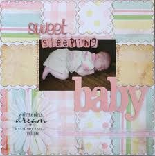 Image result for baby girl scrapbook pages