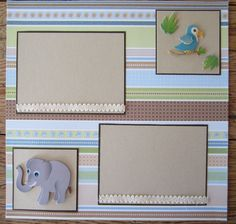 baby layouts scrapbooking | 12 x 12 Premade Scrapbook Page Baby Boy 2 Page Scrapbook Layout by ...