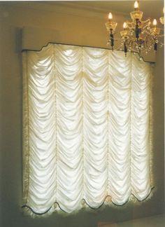Festoon Window Blinds - Fancy Window Curtains Tutorial