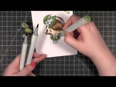 Copics & The Greeting Farm Latte Anya -- Color Wednesday #38 - YouTube