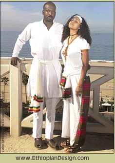 Part 3 #2 Women in Ethiopia wear dresses made out of a cloth called shemma. They also wear shash cloth on their head and tied at the neck. The men wear pants with shirts to their knees with a white collar. Although in the city modern cloths are more popular.
