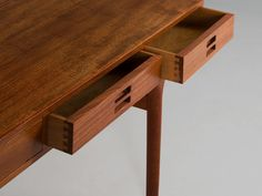 Nanna Ditzel Exclusive Desk in Teak | From a unique collection of antique and modern desks and writing tables at https://www.1stdibs.com/furniture/tables/desks-writing-tables/