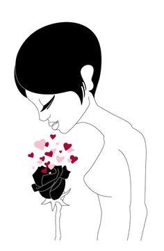 """""""WOMAN = LOVE 2"""" © Alessia Brozzetti - computer grafica - 2014 www.bobonero.it"""