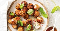 These flavour-packed Thai chicken meatballs make for fabulous finger food.