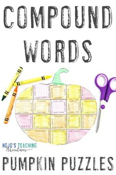 Take at look at these COMPOUND WORDS pumpkin literacy activities. They are great for the fall or autumn months of September, October, or November. They also work well for review during Halloween or Thanksgiving. They're a great alternative to Halloween activities. Grab your set today for your elementary classroom or homeschool kids! Basic English language arts review in centers or stations is easy! (3rd, 4th, 5th grade approved!) #Elementary #FallLiteracy #PumpkinActivities Halloween Activities, Activities For Kids, English Language, Language Arts, Upper Elementary Resources, 5th Grade Classroom, Grammar Activities, Compound Words, Fun Learning