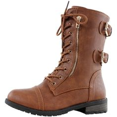 75956101820036 West Blvd Sydney Combat Motorcycle Biker Lace Up Ankle Boots ( 23) ❤ liked  on