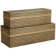 02ef54f9248 Arteriors Trinity Boxes Set of 2 Contemporary Storage Boxes