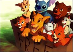 "Box of Disney Cuteness by *TamberElla on deviantART... Yeah I""d totally pull out Todd or Stitch"